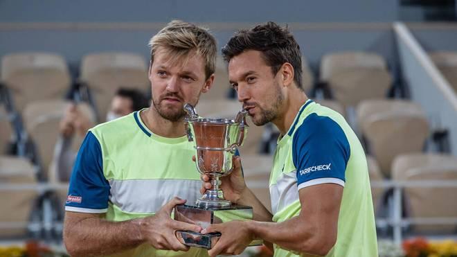 Kevin Krawietz und Andreas Mies (r.) gewannen die French Open zweimal in Folge