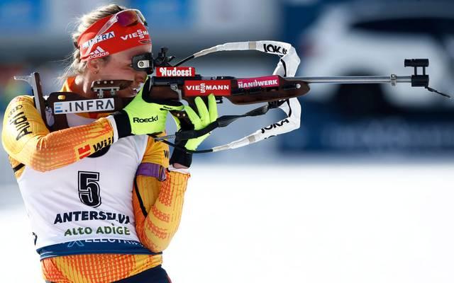Denise Herrmann holte bei der Biathlon-WM 2020 die erste Medaille für Deutschland