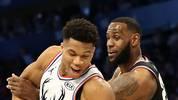 Giannis Antetokounmpo (l.) und LeBron James (r.) führen auch in diesem Jahr wieder die NBA All-Stars an