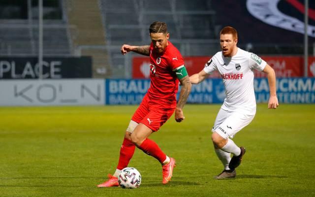 Mike Wunderlich traf für Viktoria Köln gegen Verl