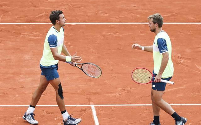 Kevin Krawietz (r.) und Andreas Mies stehen erneut im Finale der French Open