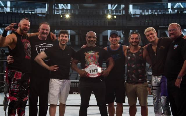 Mike Tyson hatte bei AEW auch hinter den Kulissen Spaß