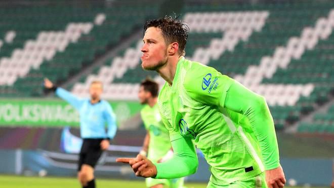 Wout Weghorst trifft im DFB-Pokal zum 2:0 gegen Sandhausen