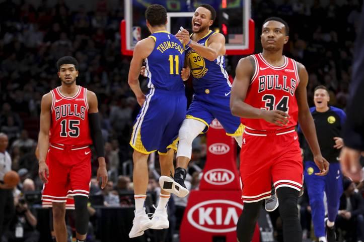 Klay Thompson von den Golden State Warriors hat einen NBA-Rekord aufgestellt. Der Shooting Guard traf gegen die Bulls 14 Dreier - und das in nur 27 Minuten