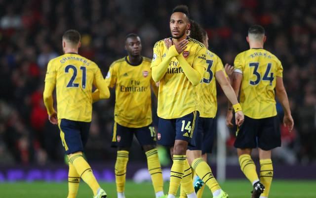 Pierre-Emerick Aubameyang trifft für Arsenal und sorgt so für einen Punktgewinn