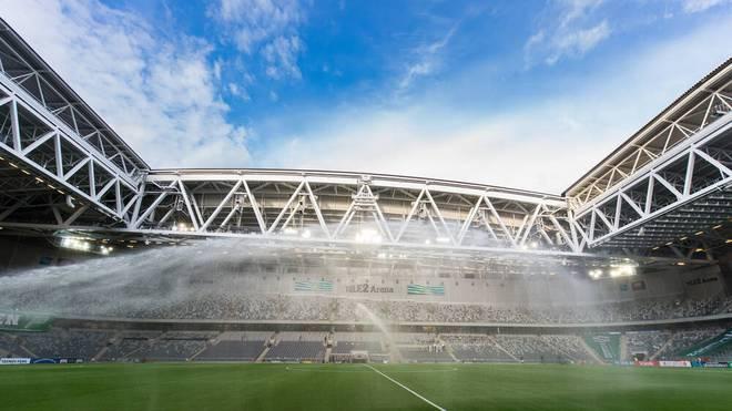 Supercup in der Puskas Arena in Budapest vor 20.000 Zuschauern