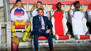 England's coach Gareth Southgate attends the UEFA Euro 2020 qualifier Group A football match Czech Republic v England at the Sinobo Arena on October 11, 2019. (Photo by JOE KLAMAR / AFP) (Photo by JOE KLAMAR/AFP via Getty Images)