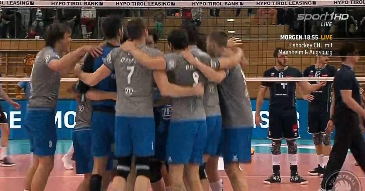 Volleyball, Bundesliga: VfB Friedrichshafen gewinnt in Haching - SPORT1