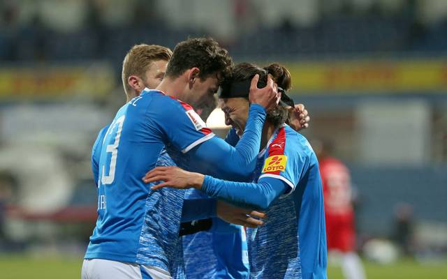Jae Sung Lee (r.) erzielte das 3:1 für Holstein Kiel