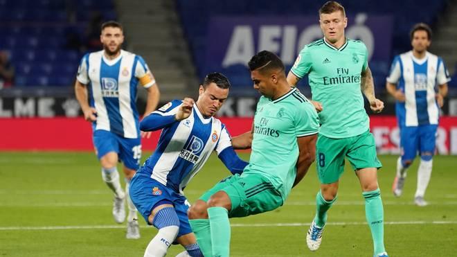 Casemiro (m.) erzielte gegen Espanyol den entscheidenden Treffer