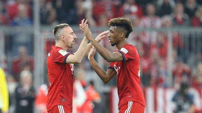 Franck Ribéry machte sich für Kingsley Coman stark