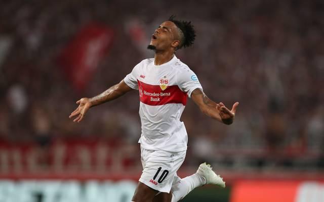 Der VfB Stuttgart erzielte das 1:0 gegen Jahn Regensburg.