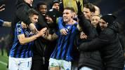 Italien feiert Atalanta Bergamo nach dem Einzug ins Champions-League-Achtelfinale.