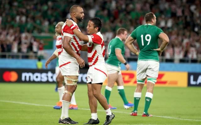 Japan hat Irland bei der Rugby-WM geschlagen