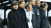 MOENCHENGLADBACH, GERMANY - NOVEMBER 16: Joachim Low, Head Coach of Germany and members of his backroom staff participate in a minute of silence in remembrance of Robert Enke prior to the UEFA Euro 2020 Group C Qualifier match between Germany and Belarus on November 16, 2019 in Moenchengladbach, Germany. (Photo by Lars Baron/Bongarts/Getty Images)
