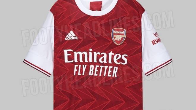 """Das Portal """"Footy Headlines"""" hat das neue Trikot des FC Arsenal geleakt"""