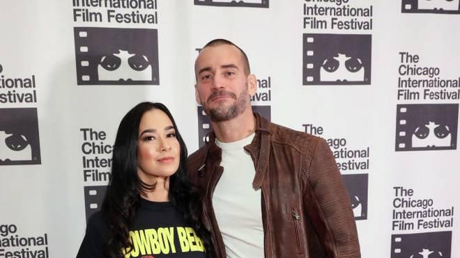 CM Punk mit Ehefrau AJ Lee
