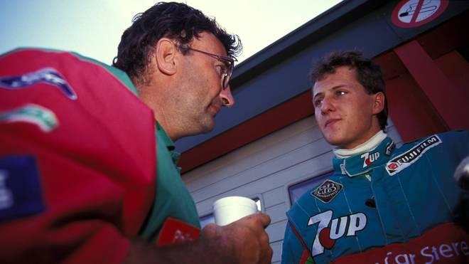 Michael Schumacher (r.) startete seine Formel-1-Karriere einst bei Jordan
