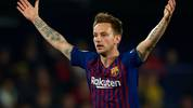 VILLAREAL, SPAIN - APRIL 02: Ivan Rakitic of Barcelona reacts during the La Liga match between Villarreal CF and FC Barcelona at Estadio de la Ceramica on April 02, 2019 in Villareal, Spain. (Photo by Manuel Queimadelos Alonso/Getty Images)