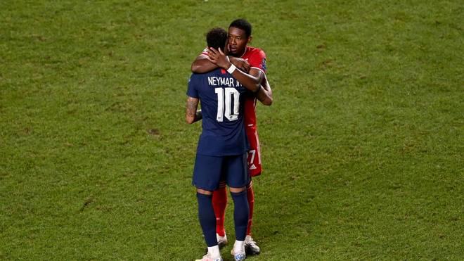 Alaba tröstet Neymar