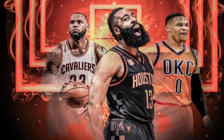 """Die NBA hat die """"All-NBA-Teams"""" bekanntgegeben. Journalisten wählen die ihrer Meinung nach besten Spieler. LeBron James (l.) schafft dabei Historisches, ist aber nicht die Nummer eins"""