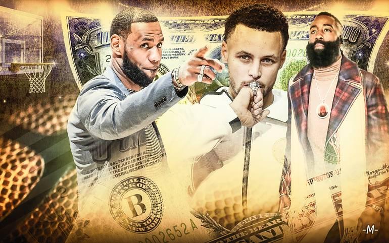 """Das US-Wirtschaftsmagazin """"Forbes"""" hat seine Liste mit den zehn Topverdienern unter den NBA-Stars veröffentlicht. Jedes Jahr schätzt das Magazin die Einnahmen von Sportlern und anderen Stars. Wer kassiert die meiste Kohle?"""