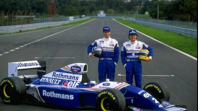 Damon Hill (l.) und Ayrton Senna stehen für die glorreiche Zeit von Williams