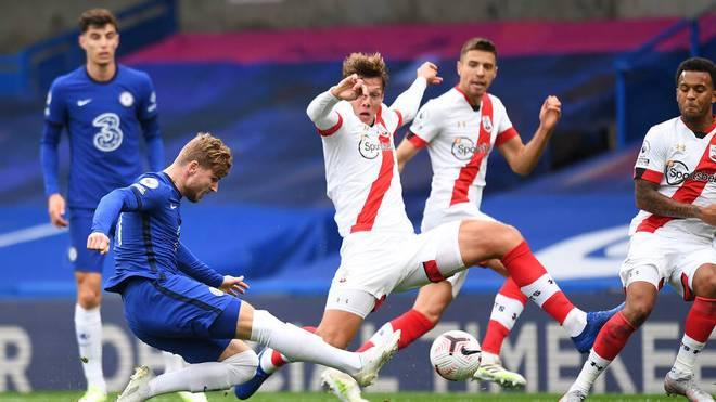 Timo Werner erzielte gegen Southampton zwei Tore