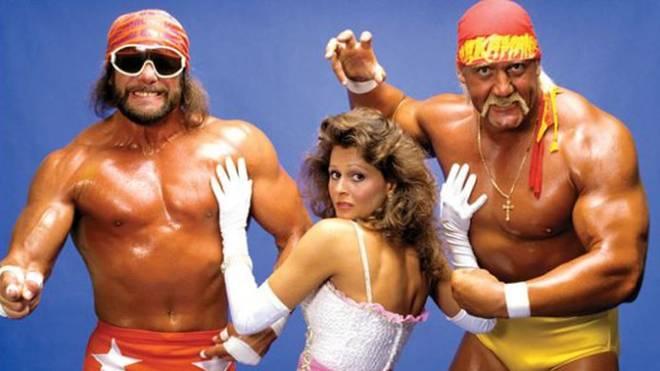Randy Savage (l.) und Hulk Hogan stritten um Miss Elizabeth - auch im echten Leben