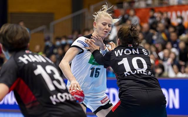 Die deutschen Handball-Frauen stehen in der WM-Hauptrunde