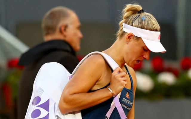 Angelique Kerber startete mit einer Niederlage