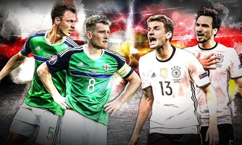 Deutschland erwartet im dritten EM-Gruppenspiel mit Nordirland (ab 17 Uhr LIVE in unserem Sportradio SPORT1.fm und ab 17.30 Uhr im LIVETICKER) wieder eine harte Nuss. Vielleicht die bisher defensiv härteste bei diesem Turnier. Die Abwehr ist die größte Stärke der Nordiren, die bisher schwache deutsche Offensive ist gefordert, Löcher in der grün-weißen Abwehrmauer zu reißen. SPORT1 nennt die Schlüsselduelle vor dem letzten Gruppenspiel