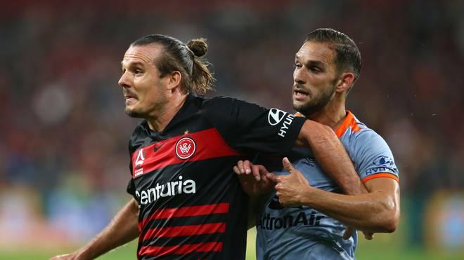 Alexander Meier (l.) hat seinen Vertrag bei den Western Sydney Wanderers aufgelöst