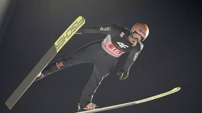 Karl Geiger wurde in der Qualifikation Neunter