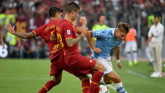Beim Duell zwischen Lazio und AS Rom kann sich keiner der Klubs durchsetzen