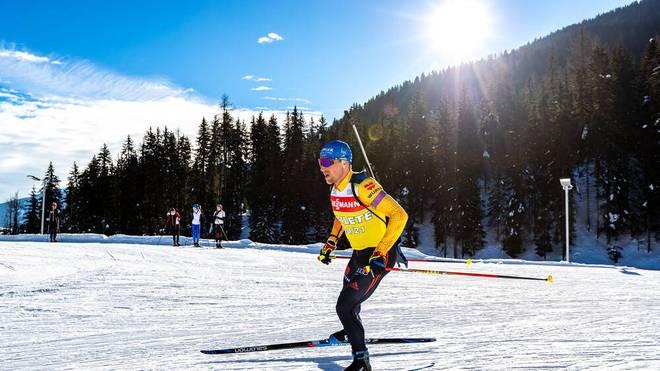 Erik Lesser feiert in der Mixed-Staffel sein WM-Debüt