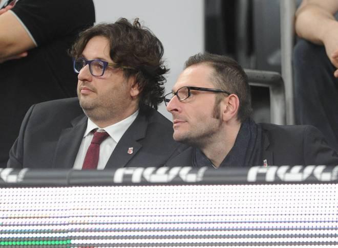Andrea Trinchieri (l.) und Daniele Baiesi leisteten bei Brose Bamberg erfolgreiche Arbeit
