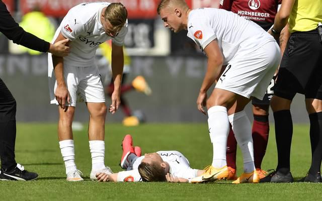 Denis Linsmayer verletzte sich gegen Nürnberg