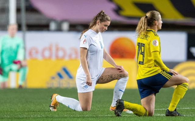 Karolina Lea Vilhjalmsdottir (l.) wechselt zum FC Bayern
