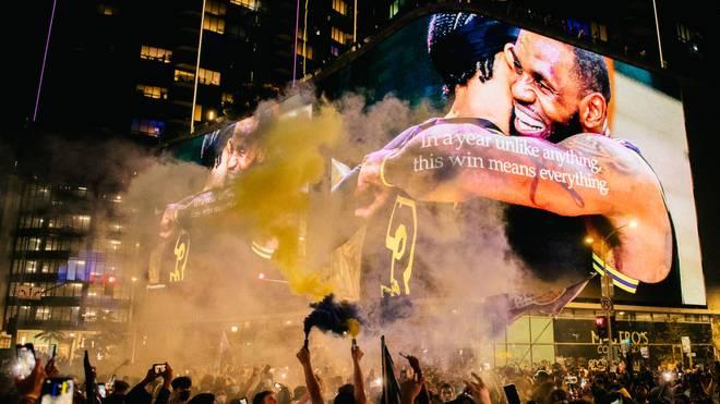 Die Los Angeles Lakers haben ihre 17. Meisterschaft in der NBA gewonnen