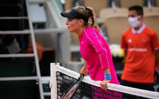 Katarina Zavatska hat ihr Erstrundenmatch bei den French Open auf dramatische Art und Weise verloren