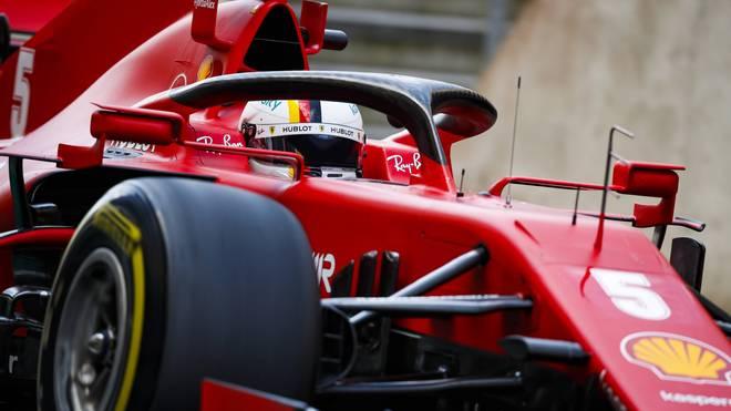 Sebastian Vettel darf sich Hoffnungen machen, dass sein Ferrari in Spanien ein etwas besseres Bild abgibt