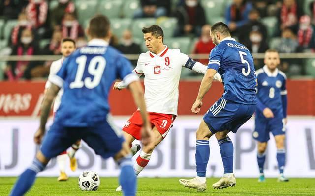 Robert Lewandowski erzielte gegen Bosnien einen Doppelpack