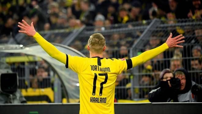 Erling Braut Haaland erzielte beim BVB-Sieg gegen Köln zwei Tore