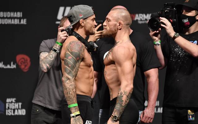 Dustin Poirier (l.) hat Conor McGregor besiegt