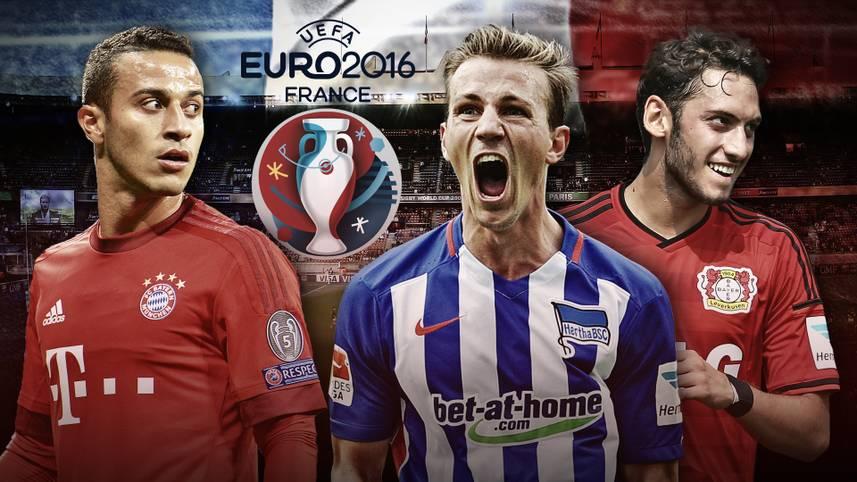 Die Gruppenphase der EM-Qualifikation ist beendet, nicht nur Deutschland ist dabei, auch zahlreiche in Deutschland spielende Profis sind mit von der Partie. SPORT1 zeigt die Bundesliga-Profis aus den 20 schon qualifizierten Teams, die in Frankreich dabei sein dürften