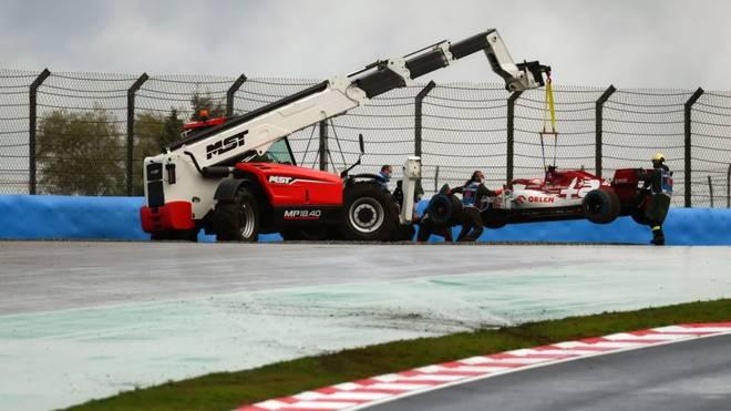 Antonio Giovinazzi war schon vor dem Rennen in einen Unfall verwickelt