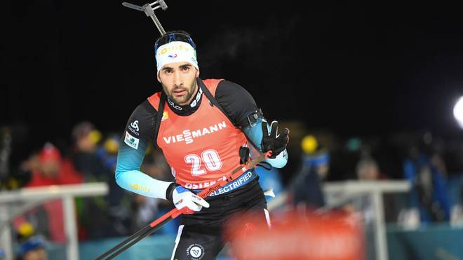 Martin Fourcade of France competes in the 20 km individual event at the Biathlon IBU World Cup in Ostersund, Sweden on December 4, 2019. (Photo by Fredrik SANDBERG / TT NEWS AGENCY / AFP) / Sweden OUT (Photo by FREDRIK SANDBERG/TT NEWS AGENCY/AFP via Getty Images)