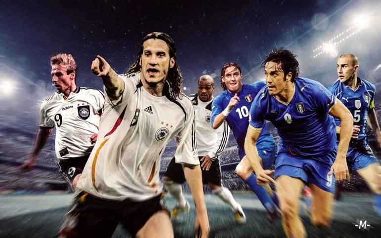 Beim Legendenspiel in Fürth kommt es zum Kracherduell Deutschland vs. Italien (Mo., 17.30 Uhr LIVE im TV auf SPORT1) mit reihenweise Stars. SPORT1 zeigt, welche Legenden auflaufen