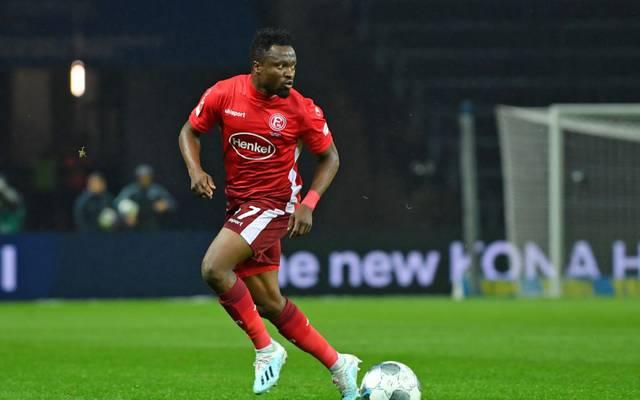 Bernard Tekpetey ist aktuell von Schalke 04 an Düsseldorf ausgeliehen